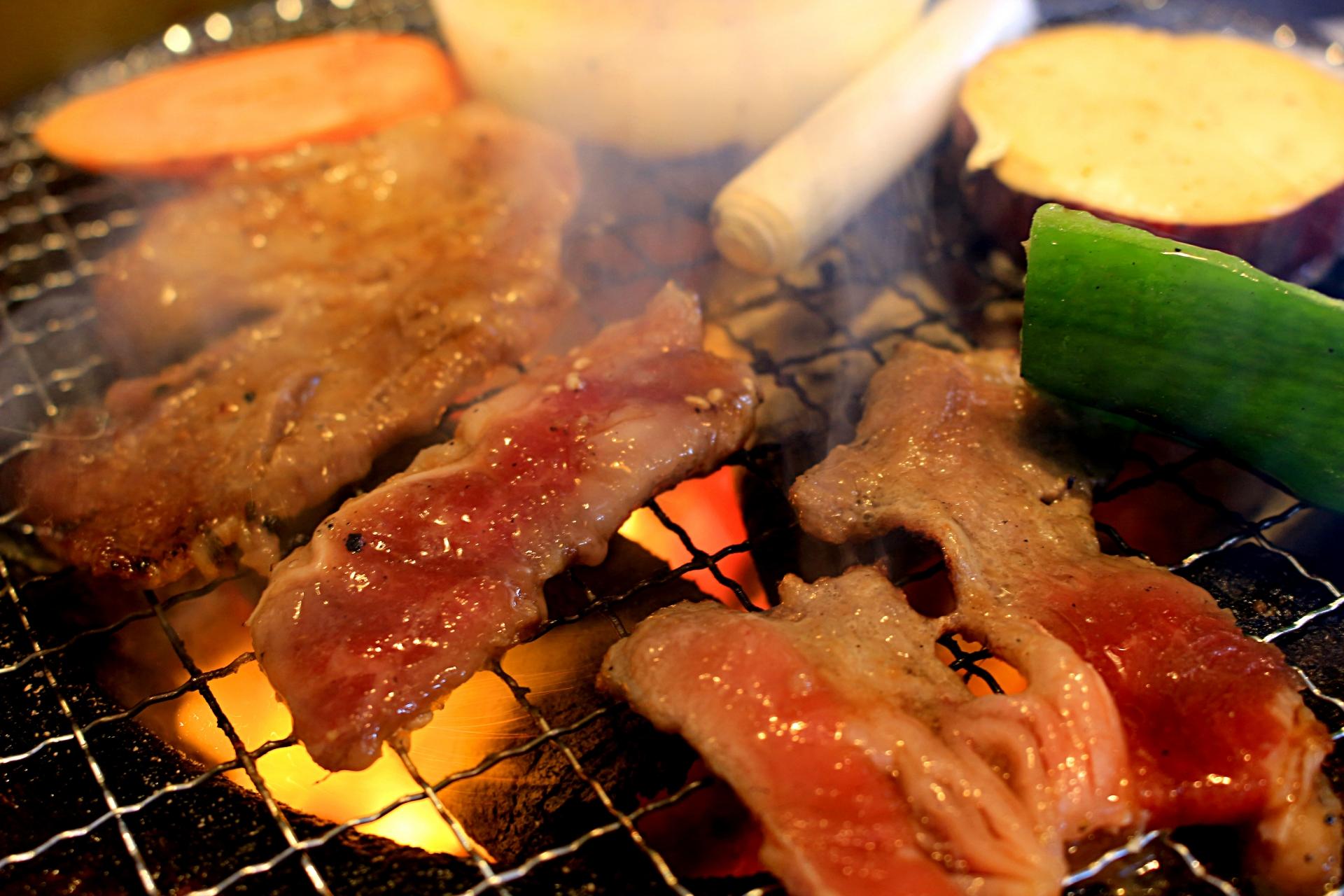 美味しい焼肉や野菜