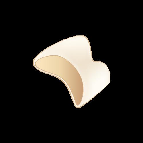 差し歯は元の歯を大きく削って上から被せものを被せます